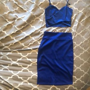 NWT Crop top and skirt set size small